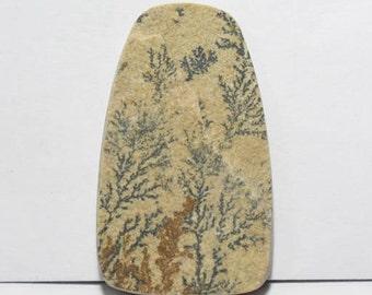 40% off  Psilomelane- Dendritic Limestone cabochon 42.5X25X5 mm Size, Fancy Shape Gemstone Cabochon, +++ AAA Quality Gemstone Pdf#1801