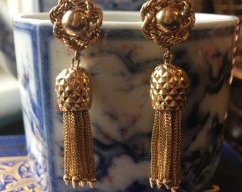 Chandelier Tassel Drop 14k Earrings