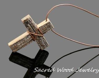 Drift Wood Cross - Wood Cross Necklace - Wooden Cross - Wood Cross - Cross Necklace - Art Cross Pendant - Cross Jewelry -Wood Cross Pendant