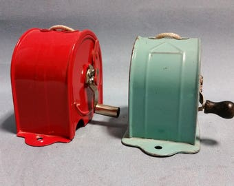 Vintage Wall Mount Metal Clothesline, Two Available