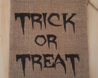 Burlap Bag, Trick or Treat Burlap Holiday Bags, Burlap Gift Bags, Gift Bags, Goodie Bags, Party Bags, Halloween Party Bags, Halloween Decor