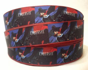 "1/3/5/10 Yards - 1"" Cybersix Grosgrain Ribbon"