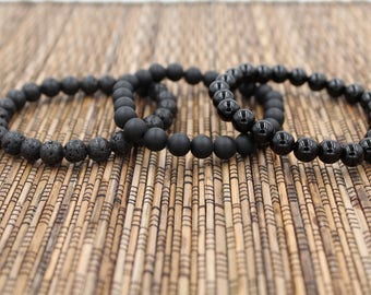 The Black Stack - Beaded Bracelet