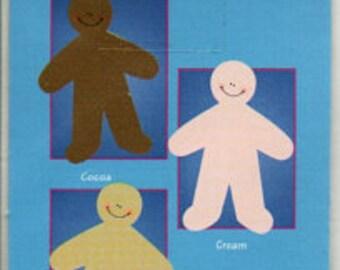 8 Cocoa Mini Paperkins Die Cut Paper Dolls Ek Success Scrapbook Embellishments Cardmaking Crafts Paper Piecing