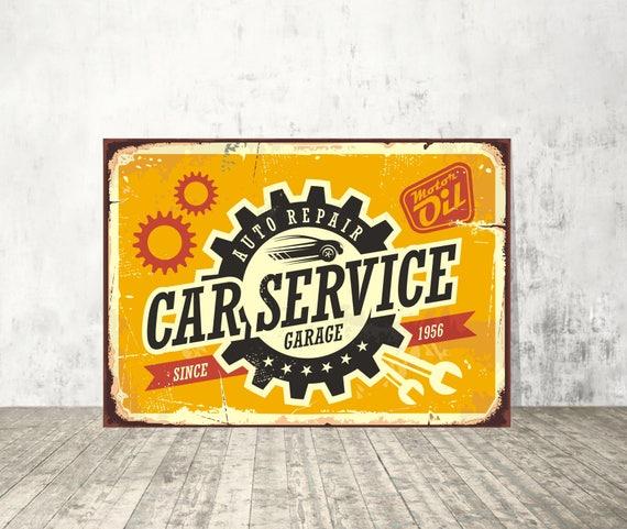 Vintage Automotive Signs For Garage : Car service sign garage auto repair signs vintage
