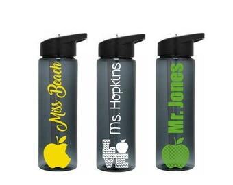 Teacher Tumbler, Teacher Water Bottle, Teacher Appreciation Week, Gift for Teachers, Student Teacher Gift, Teacher Gift Ideas, School Gift