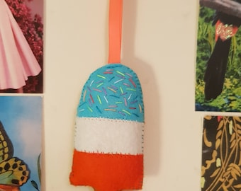 Ice Lolly Kitsch Felt Hanging Decoration