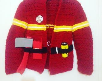 Crochet Fireman jacket