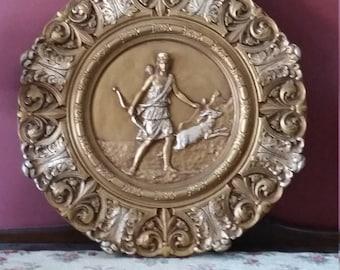 Diana Goddess of the Hunt Wall Medallion