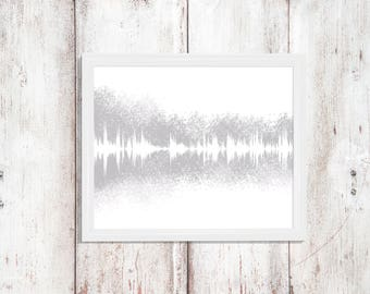 Custom Music Print, Custom sound wave art, Music Poster, Music Gifts, Music Decor, Music Wall Art, Song Art, Sound Wave, Personalised Gift