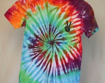Size 8 - Ready To Ship - Unisex - Children - Kids - Tie Dyed T-shirt - Tee's - 100% Cotton - FREE SHIPPING within Aus