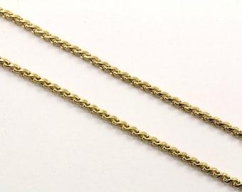 18K Yellow Gold Serpentine Design Chain Necklace GNC 160-E