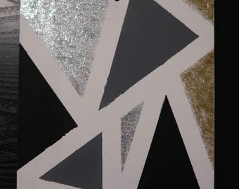 Abstract Triangle Painting