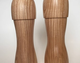 Ash Wood Peppermill and Salt Shaker