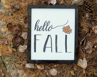 Hello Fall wood sign | Autumn signs | Rustic Decor | Fall Decor | Farmhouse decor | Seasonal Decor