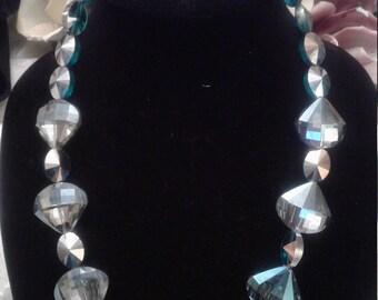 Necklace dark aqua