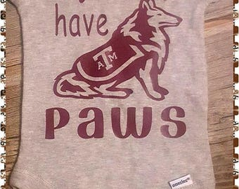 Texas A and M, Siblings Have Paws, Sibling, College Onesie, College, A&M Football,  Football, Sports Baby, Sports Onesie, Texas Football