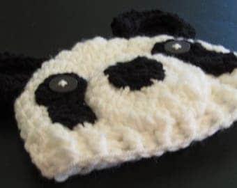Panda Bear Hat, Newborn Panda Bear Hat, Bear Hat, Animal Hat, Photo Prop, Photography Prop Hat