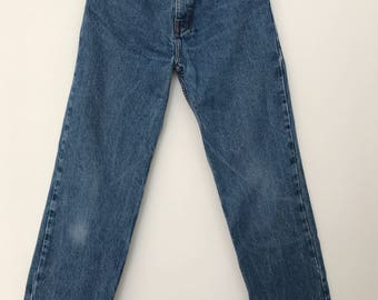 Vintage jeans / high waisted jeans / 90s jeans / 90s clothing / mom jeans / blue jeans / W24L29 / W25L29