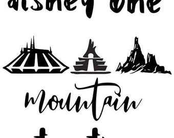 Conquering Disney One Mountain At A Time .svg file for Cricut and Silhouette