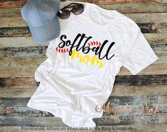 Softball Mom Tshirt - Softball Tee - Softball Season - Ball Mom