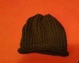 black crochet hat- Adult size
