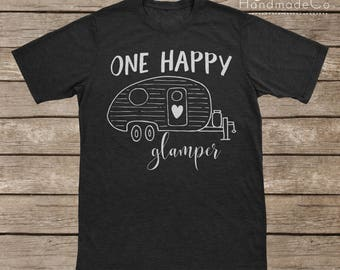 One Happy Glamper T-shirt Transfer/Iron On Vinyl/Iron On Decal/Iron On Sheet/DIY Iron On Transfer/T-shirt Iron On Transfer