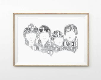 The Beatles Typography Art Print