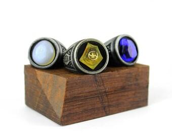 FFXIV Custom Soul Crystal Rings Final Fantasy 14 FF14 Job Stone Signet Ring