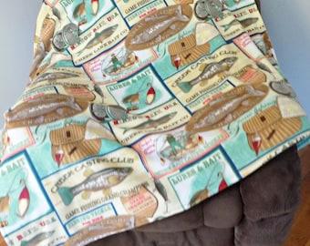 Fishing Fleece Blanket - Outdoors Fleece Blanket