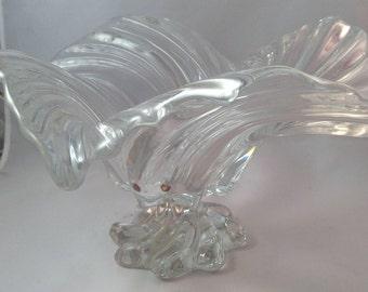 Original waltherglass swirl art footed bowl