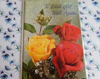 Vintage 1950s or 1960s Unused Get Well Soon Card