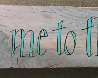 Follow Me To The Sea Hand Lettered Wall Art