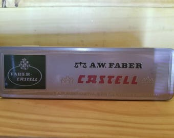 Vintage A.W. Faber Castell Tin