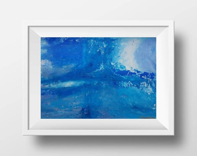 The Wave No. 2 35x25cm Original Abstract Painting