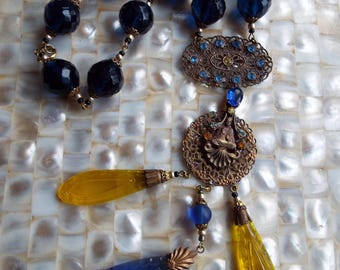 Art Deco Statement Czech Glass Necklace