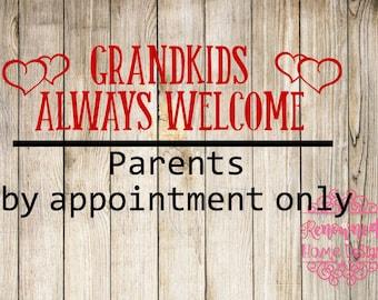 Grandkids svg; Grandparents svg; cut file; silhouette svg; cricut svg; silhouette cut file; cricut cut file; cutting file