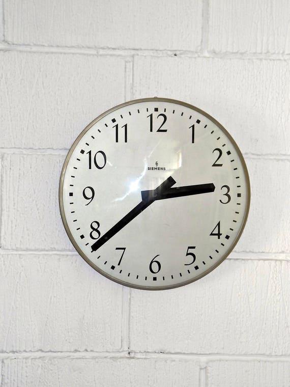 Siemens West German Factory Clock Circa 1970's
