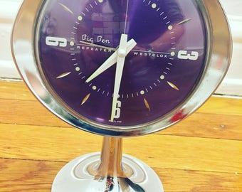 Vintage Westclox Big Ben Repeater -  Space Age - Alarm Clock - Retro - Working