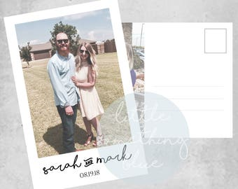 Postcard Save the Date Template // Save the Date // 5x7 // Printable // Digital Download