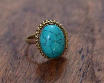 45% off brass ring,green stone adjustable brass jewellery ring,gemstone ring