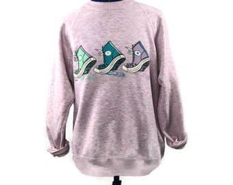 Vintage Converse pink and grey crewneck Sweatshirt