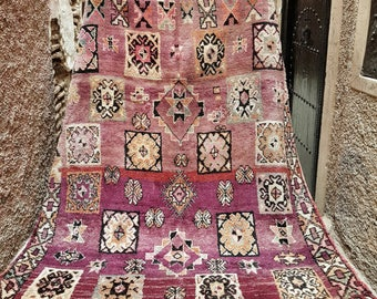 SOLD OUT Moroccan Boujad Vintage Rug, Boheme, Boho Chic, Wedding Gift Idea,