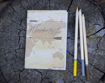 Wanderlust A6 Pocket Notebook