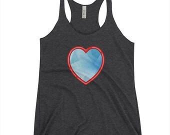 Blue Heart Women's Racerback Tank