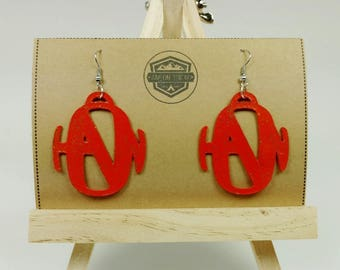 Hanson Earrings - Hanson Band - Hanson Music - Hanson Brothers - Hand Painted - Recycled Jewelry