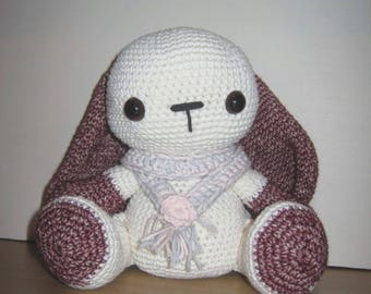Handmade, Crochet Toy, Soft Toy, Stuffed Animal, Amigurumi Bunny - Berry