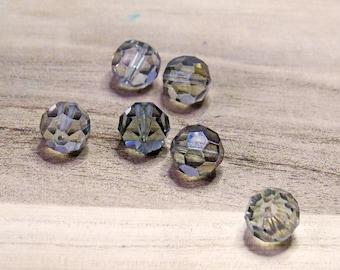 Sfera in vetro trasparente,materiale per bigiotteria,perla trasparente.