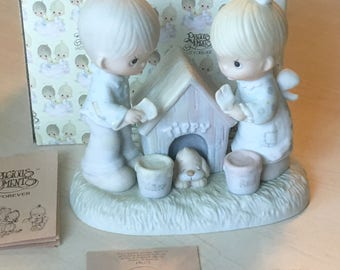 Vintage Precious Moments Bless This House  Figurine E-7164