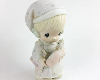 Vintage Precious Moments Time To Wish You A Merry Christmas Specail Edition 1988 Figurine 115339